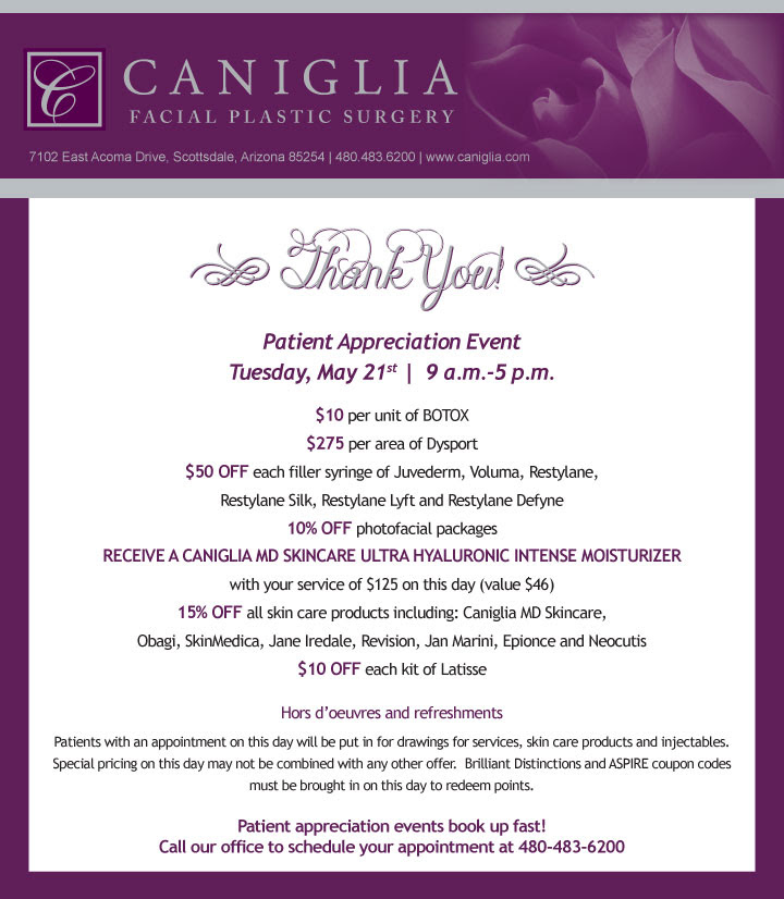 May Newsletter | Caniglia Facial Plastic Surgery